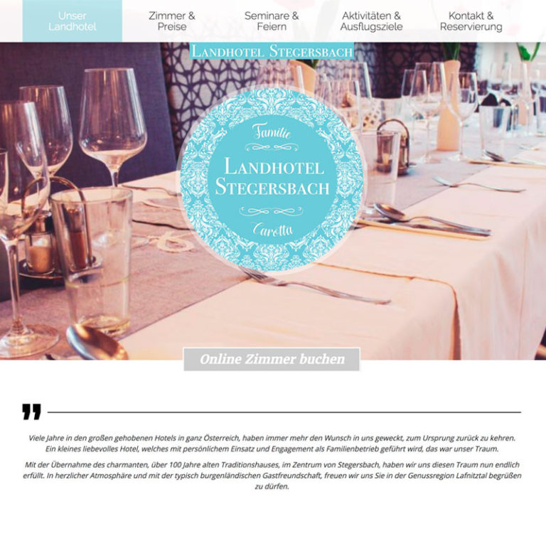 Website Landhotel Stegersbach