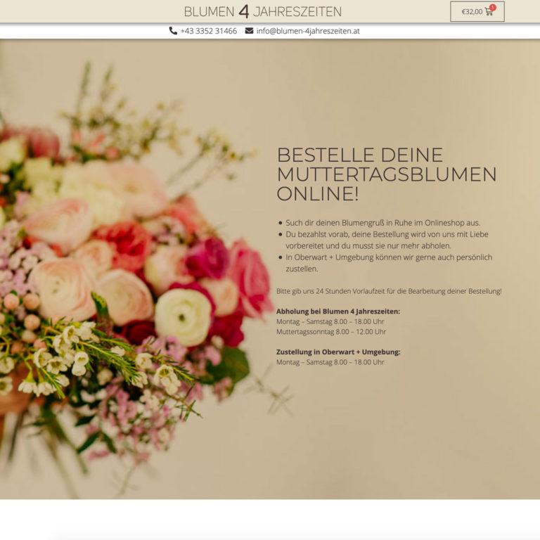 Blumen 4 Jahreszeiten - Onlineshop