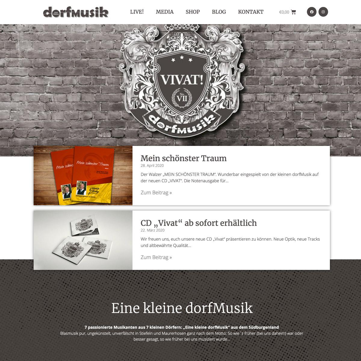 Eine kleine Dorfmusik Website