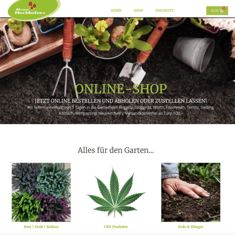 Webshop Blumen Hochhofer