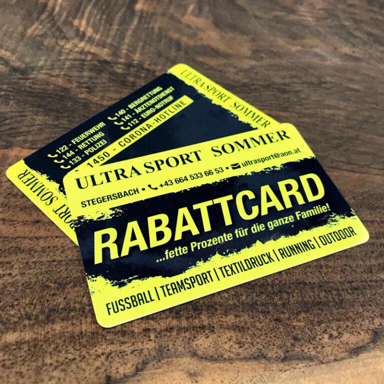 Ultrasport Sommer Rabattcard