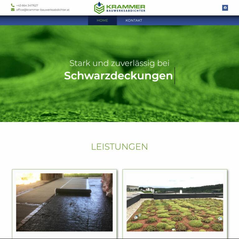Website Krammer Bauwerksabichter