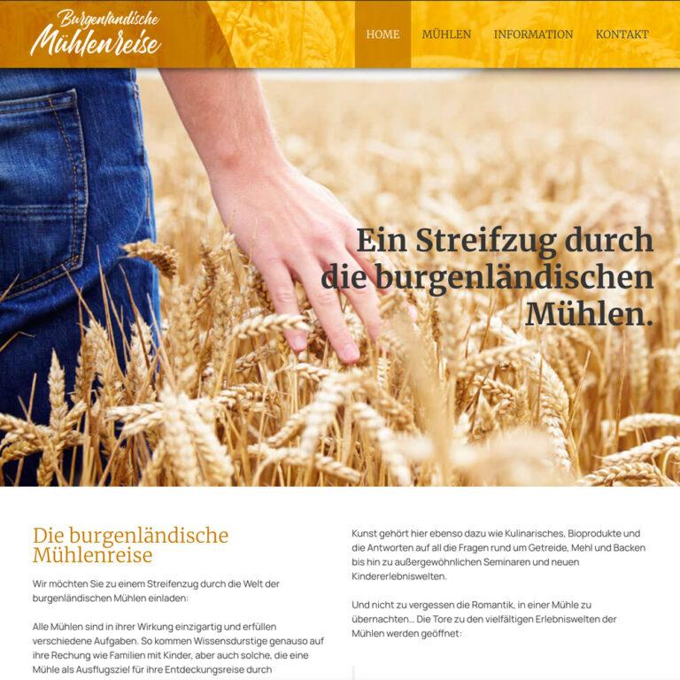 Website Mühlenreise Burgenland