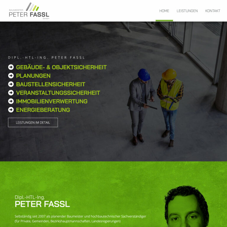 Website Baumeister Peter Fassl