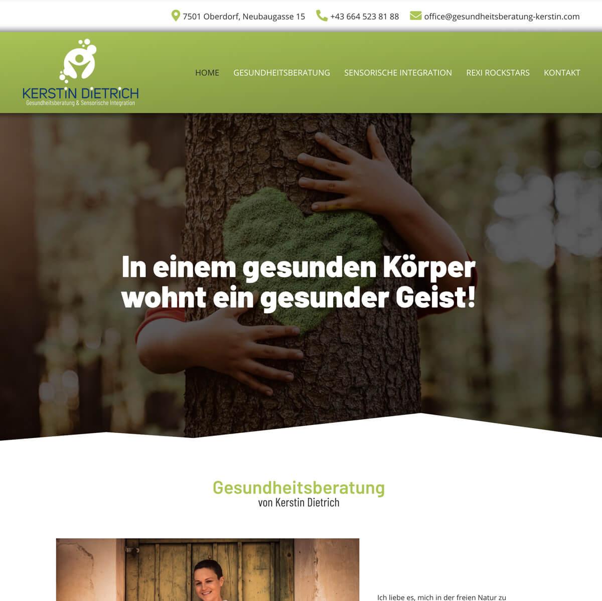 Website Gesundheitsberatung Kerstin Dietrich