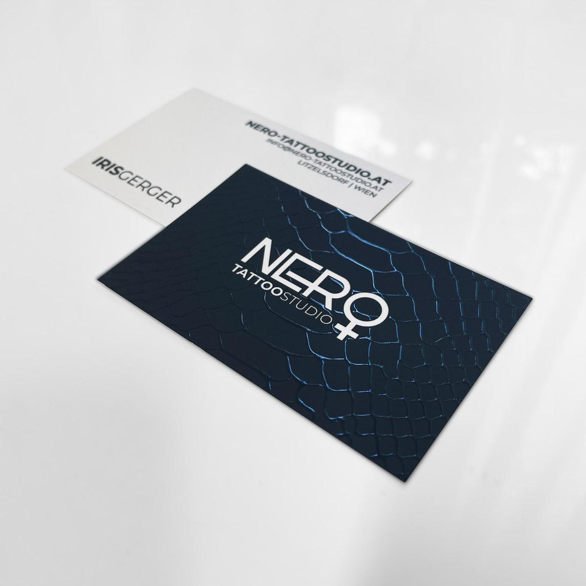 Nero Tattoostudio Visitenkarten