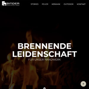 Website Binder Kachelofen Fliesen