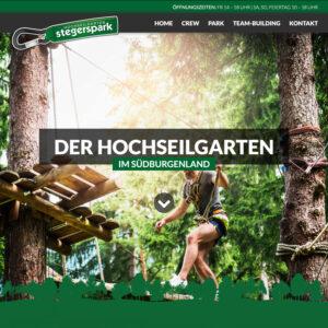 Website Hochseilgarten stegerspark
